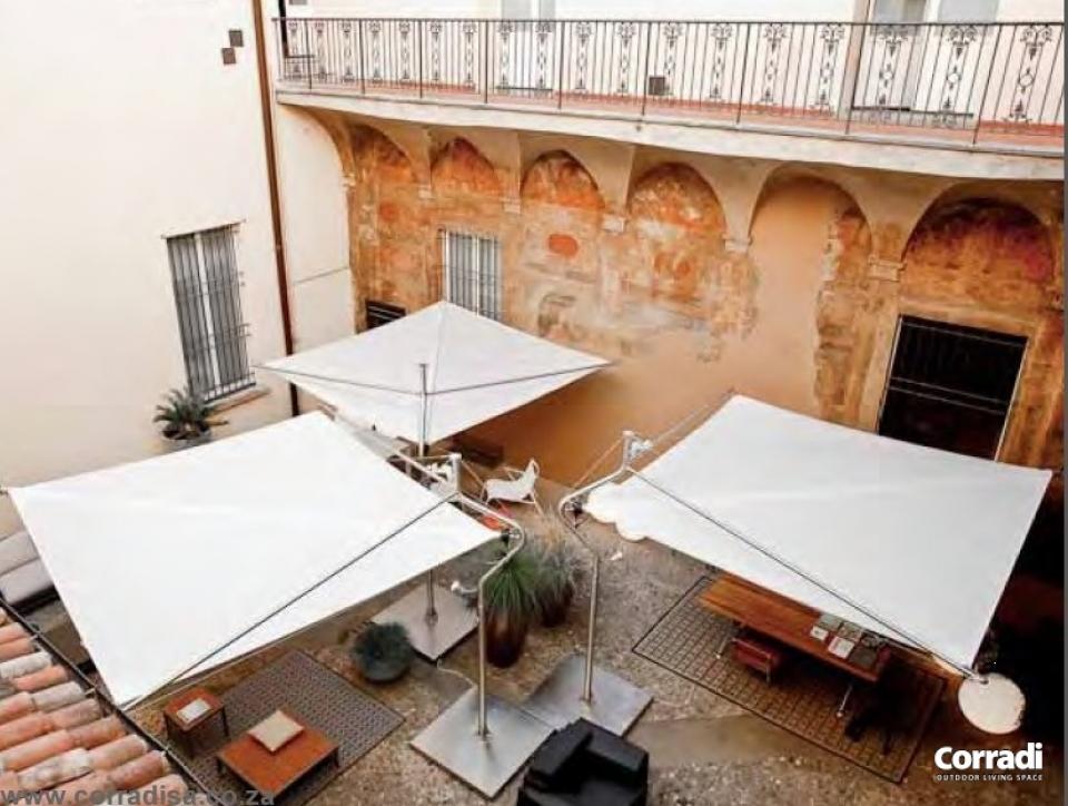 Vele parasole di grandi dimensioni