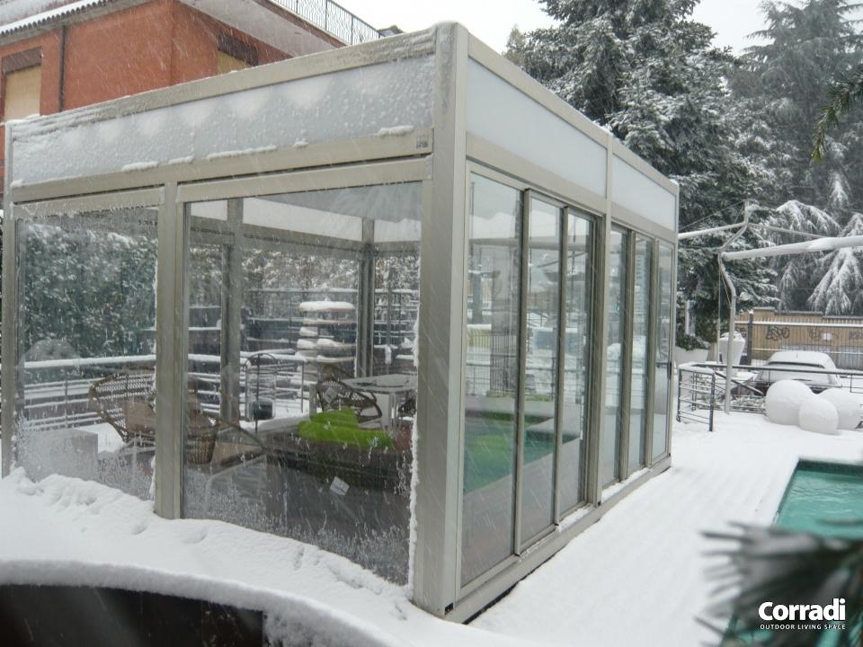 Pergotenda durante i mesi invernali
