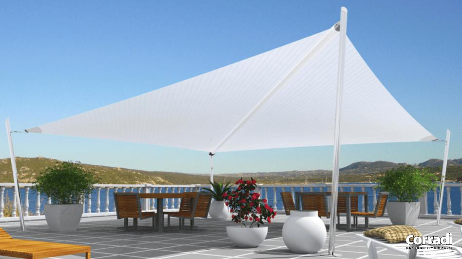 Tenda A Vela Per Terrazzo : Vele ombreggianti per terrazzo pergotenda corradi